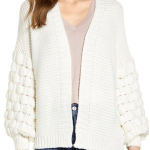 RD Style Bubble Sleeve Cardigan